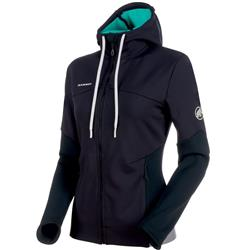 Mammut Alnasca ML Hooded Jacket - Womens-Black / Atoll