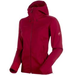 Mammut Ultimate V SO Hooded Jacket - Womens-Beet / Beet Melange