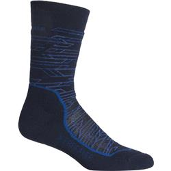 Hike+ Crew Merino Socks - Medium Cushion - Lava - Mens