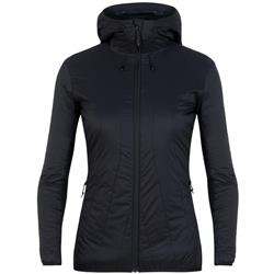 Icebreaker Hyperia Lite Hybrid Hooded Jacket- Womens-Black
