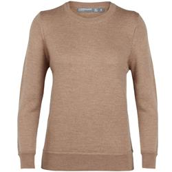 Icebreaker Muster Crewe Sweater- Womens-Camel Heather