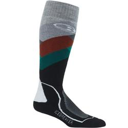 Icebreaker Ski+ OTC Socks - Medium Cushion - Glades - Mens-Bottle / Saddle / Snow