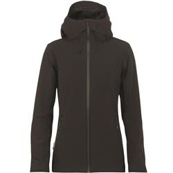 Icebreaker Stratus Transcend Hooded Jacket - Womens-Black / Jet Heather