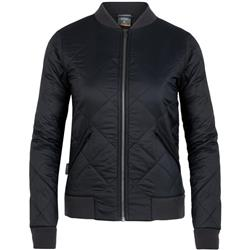 Icebreaker Venturous Bomber Jacket- Womens-Black / Jet Heather / Gritstone Heather