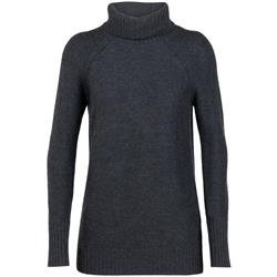 Icebreaker Waypoint Roll Neck Sweater- Womens-Char Heather