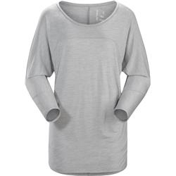 Arcteryx Joni 3/4 Sleeve Top - Womens-Fawn Heather