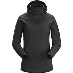 Arcteryx Rho LT Hooded Zip Neck - Womens-Black