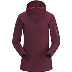 Arcteryx Rho LT Hooded Zip Neck - Womens-Merbau