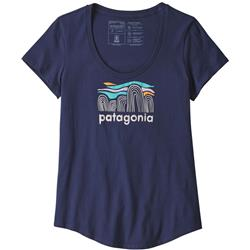 Patagonia Fitz Roy Boulders Organic Scoop T-Shirt - Womens-Classic Navy