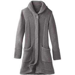 Prana Elsin Sweater Coat - Womens-Gravel