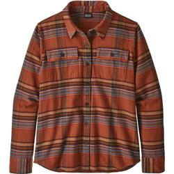 Patagonia Fjord Flannel LS Shirt - Womens-Cabin Time / Barro Brown