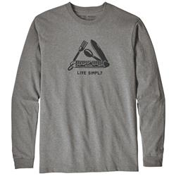 Patagonia Live Simply Pocketknife Responsibili-Tee LS - Mens-Gravel Heather