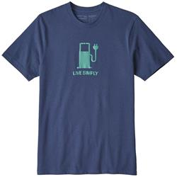 Patagonia Live Simply Power Responsibili-Tee - Mens-Dolomite Blue
