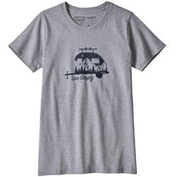 Patagonia Live Simply Trailer Responsibili-Tee - Womens-Drifter Grey