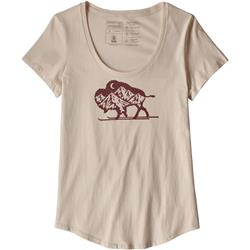 Patagonia Nordic Bison Organic Scoop T-Shirt - Womens-Calcium