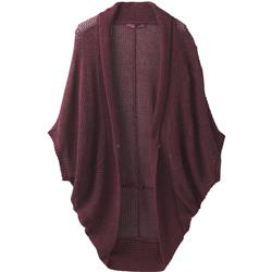 Prana Lima Cardigan - Womens-Black Cherry Heather