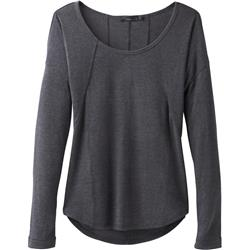 Prana Remi Waffle Pullover - Womens-Charcoal