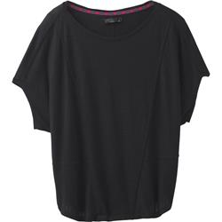 Prana Seabord SS Top - Womens-Black