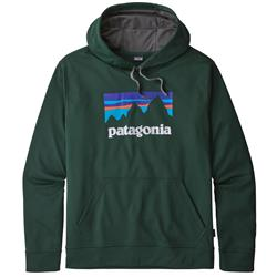 Patagonia Shop Sticker PolyCycle Hoody - Mens-Micro Green