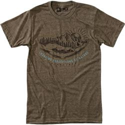 Hippy Tree Discovery Tee - Mens-Heather Brown