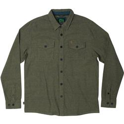 Hippy Tree Longview Flannel LS - Mens-Military