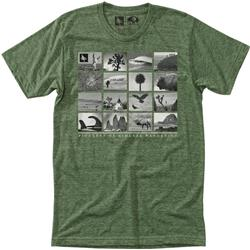 Hippy Tree Montage Tee - Mens-Heather Army
