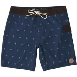 Hippy Tree Motif Trunk - Mens-Navy