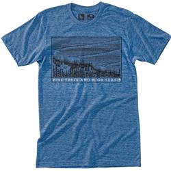 Hippy Tree Outskirts Tee - Mens-Heather Blue