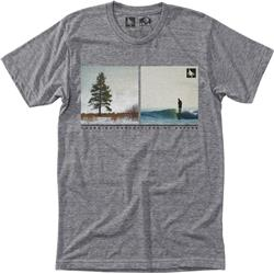 Hippy Tree Parallel Tee - Mens-Heather Grey