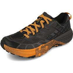 Hoka Speedgoat 2 - Mens-Black / Kumquat