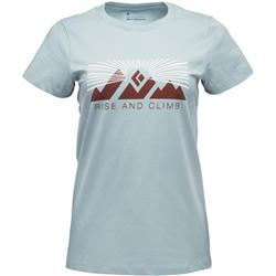 Black Diamond Rise And Climb SS Tee - Womens-Blue Ash