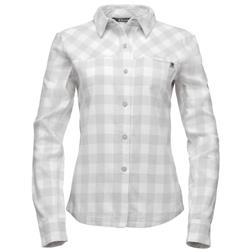 Black Diamond Spotter LS Shirt - Womens-Aluminum / Ice Plaid
