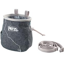 Petzl Saka Chalkbag with Belt-Gray