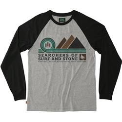 Hippy Tree Pinnacle L/S Tee - Mens-Heather Grey