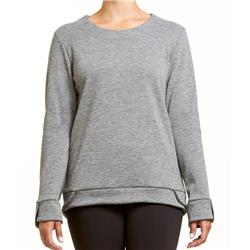 Fig Clothing Hux Sweater - Womens-Heather Grey