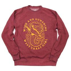 Westcoastees Wine & Sunshine Crewneck Sweater - Womens-Not Applicable