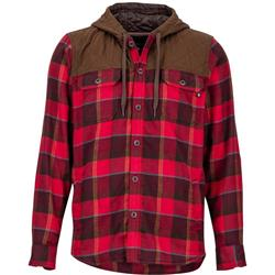 Marmot Silos Heavyweight Flannel LS - Mens-Burgundy / Rich Brown