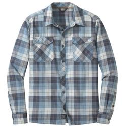 Outdoor Research Tangent II LS Shirt - Mens-Naval Blue Plaid