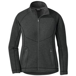 Outdoor Research Vashon Fleece Full-Zip - Womens-Charcoal Heather