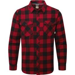 Rab Boundary Shirt - Mens-Autumn Red / Black