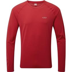 Rab Force LS Tee - Mens-Cayenne