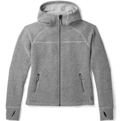 Smartwool Hudson Trail Full Zip Fleece Sweater - Womens-Light Gray