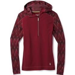 Smartwool Merino 250 Baselayer 1/2 Zip Hoody - Womens-Tibetan Red