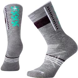 Smartwool PhD Outdoor Medium Pattern Crew Socks - Womens-Light Gray