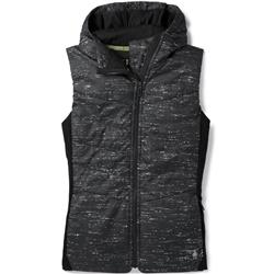 Smartwool Smartloft 60 Hoody Vest - Womens-Black / Light Gray