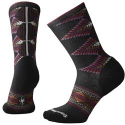 Smartwool Tiva Crew Socks - Womens-Black / Nostalgia Rose Heather