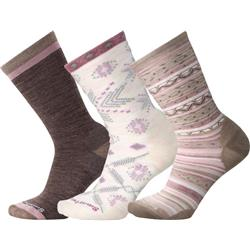 Smartwool Trio 1 Socks - Womens-Taupe
