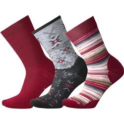 Smartwool Trio 2 Socks - Womens-Tibetan Red Heather