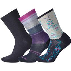 Smartwool Trio 3 Socks - Womens-Deep Navy