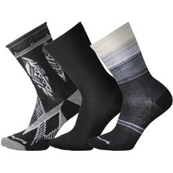 Smartwool Trio 4 Socks - Womens-Black